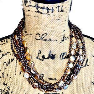 Shiny Boho Layered Statement Necklace